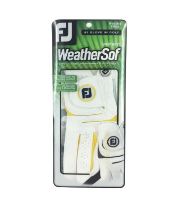 Luva Footjoy WeatherSof Fashion Amarelo