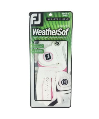 Luva Footjoy WeatherSof Fashion Rosa