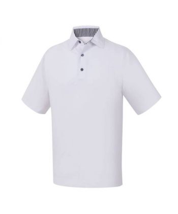 Polo Masc FootJoy Solid Lisle Self Colar